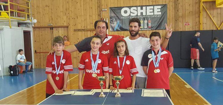 Πρωταθλήτρια Ελλάδας η Φωτιάδου στο ομαδικό, δευτεραθλήτρια στο διπλό