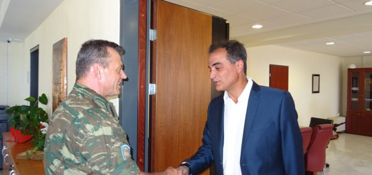 Τον Περιφερειάρχη επισκέφθηκε ο Διοικητής της 1ης Στρατιάς