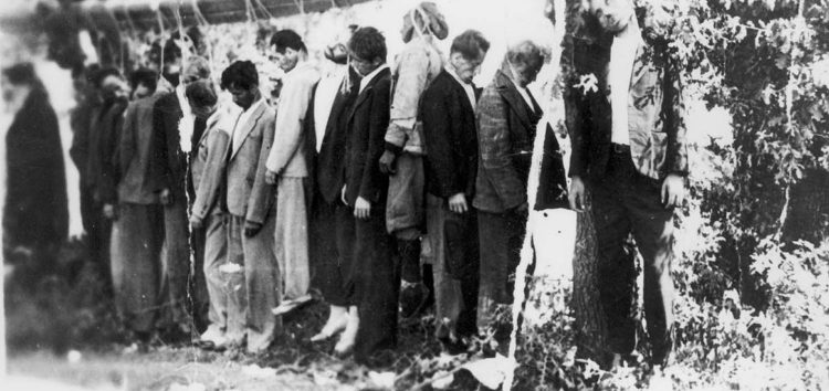 Ο απαγχονισμός των 15 Ελλήνων στην Κλαδοράχη στις 9 Αυγούστου 1943