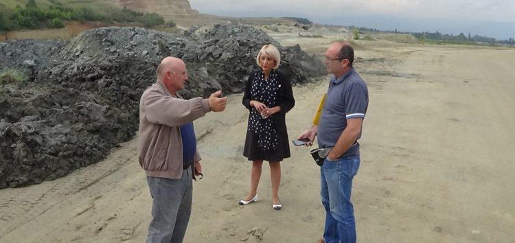 Επίσκεψη της Αντιπεριφερειάρχη Ενέργειας, Περιβάλλοντος και Μεταφορών στα ορυχεία Αχλάδας (video)
