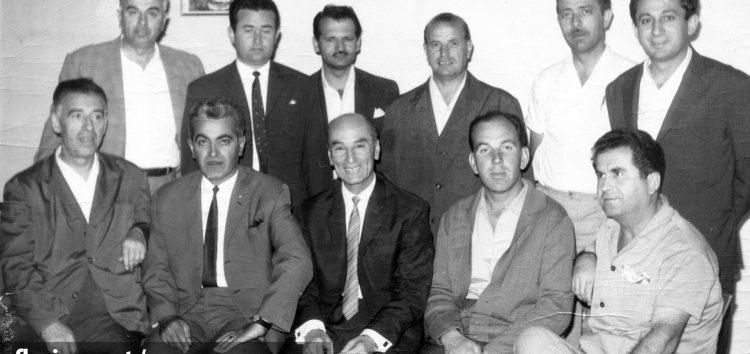 Η πρώτη διοίκηση της ποδοσφαιρικής ομάδας «Φλώρινα» το 1968