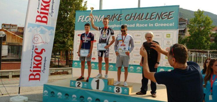 Στην κορυφή του βάθρου ο ποδηλάτης του ΑΟΦ Άγγελος Σαράφης, στο 3ο Florina Bike Challenge