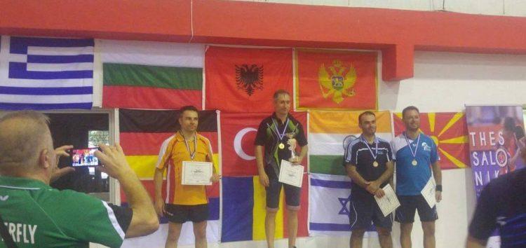 Χρυσό ο Λίβιου στο διεθνές πρωτάθλημα βετεράνων στη Θεσσαλονίκη