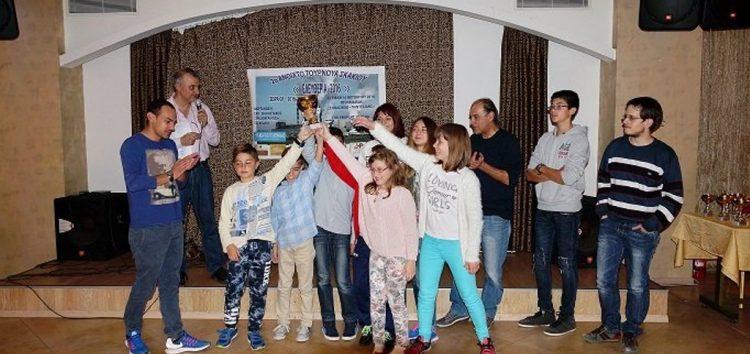 Πρωταθλήτρια η Λέσχη Πολιτισμού στο 2ο τουρνουά γρήγορου σκακιού «Ελευθέρια 2016»