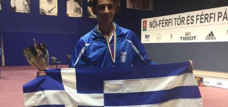 Δεύτερη θέση για τον Φίλιππο Γκώγκο στο Ευρωπαϊκό Κύπελλο Εφήβων