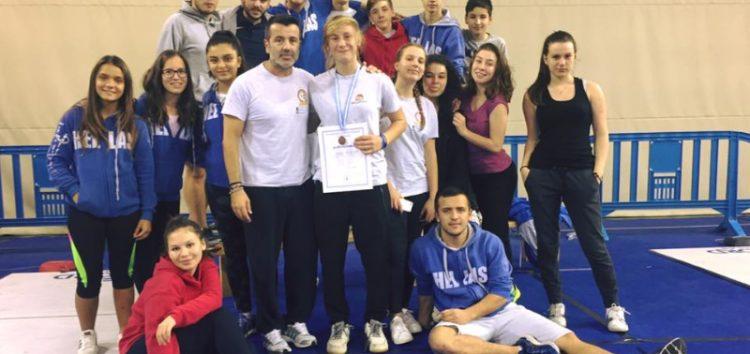 Χάλκινο μετάλλιο για την Αντωνία Απιδοπούλου στο Πανελλήνιο Κύπελλο Νέων – Νεανίδων