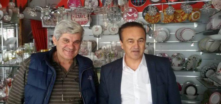 Επισκέψεις του βουλευτή Γ. Αντωνιάδη σε εμπορικές επιχειρήσεις