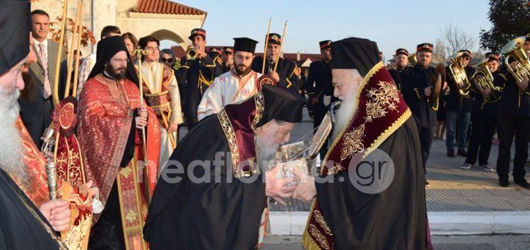 Η Φλώρινα υποδέχτηκε τεμάχιο του ιερού λειψάνου του Αγίου Δημητρίου (video, pics)