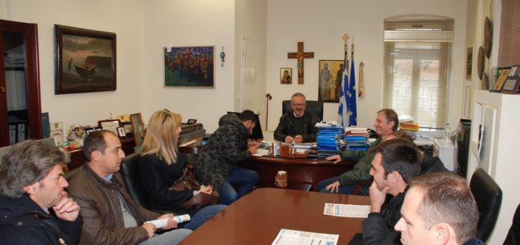 Συνάντηση του δημάρχου Φλώρινας με υποψήφιους των εκλογών του ΤΕΕ