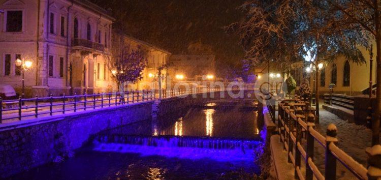 Νυχτερινή και χιονισμένη Φλώρινα (pics)