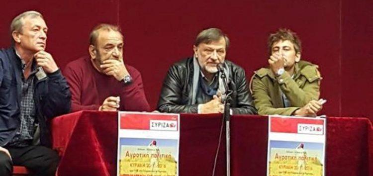 Εκδήλωση του ΣΥΡΙΖΑ στο Αμύνταιο για την αγροτική πολιτική