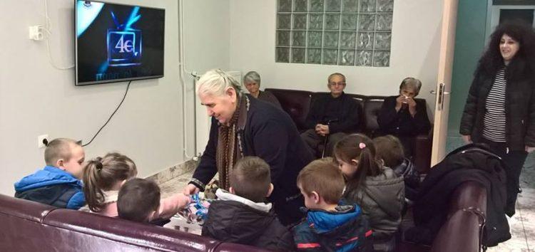 Επίσκεψη του νηπιαγωγείου Κάτω Κλεινών στο Γηροκομείο Φλώρινας «Αυγουστίνειον»