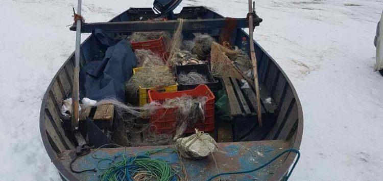 Σύλληψη τεσσάρων αλλοδαπών στην Πρέσπα για παράνομη αλιεία