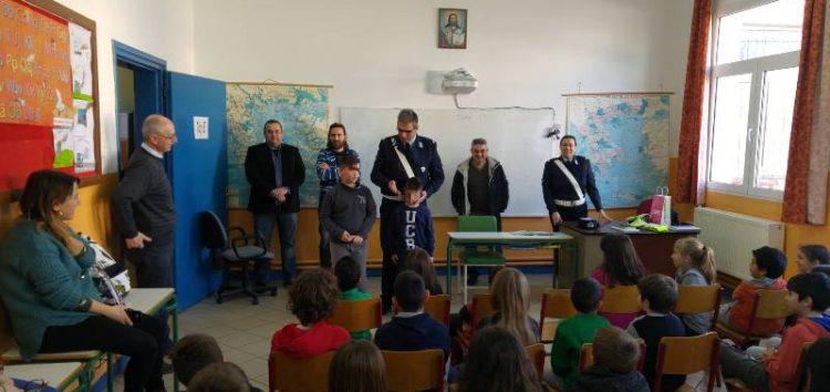 Ενημέρωση κυκλοφοριακής αγωγής στο δημοτικό σχολείο Λεβαίας (video, pics)