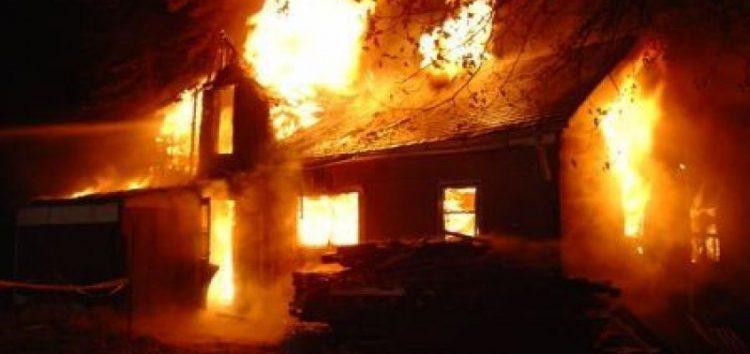 Κάηκε ολοσχερώς μονοκατοικία στο Σκλήθρο