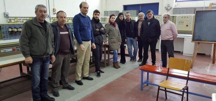 Επίσκεψη του βουλευτή Κ. Σέλτσα στη Σχολή Μαθητείας του ΟΑΕΔ Φλώρινας