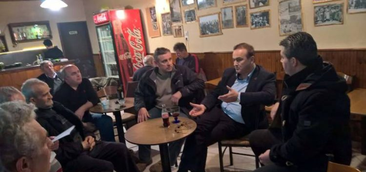 Ο βουλευτής Γ. Αντωνιάδης συναντήθηκε με κατοίκους των Αναργύρων για το θέμα της μετεγκατάστασης