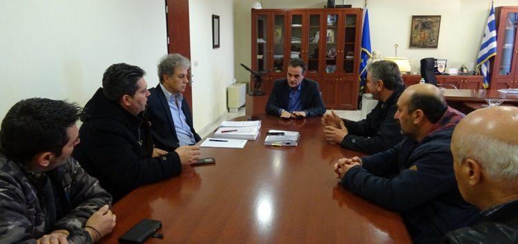 Συνάντηση με τον υπουργό Περιβάλλοντος και Ενέργειας για το Προεδρικό Διάταγμα Ακρινής και Αναργύρων
