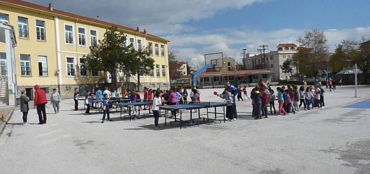 Παιχνίδια και αγώνες επίδειξης από τις Σάρισες στο 3ο δημοτικό σχολείο Φλώρινας