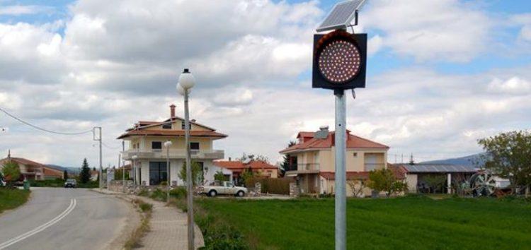 Νέα φανάρια ηλιακής ενέργειας στη Λεβαία (pics)