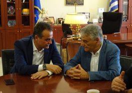 Συνάντηση του Γ.Γ. του υπουργείου Εσωτερικών Κ. Πουλάκη  με τον Περιφερειάρχη Δυτικής Μακεδονίας (video, pics)