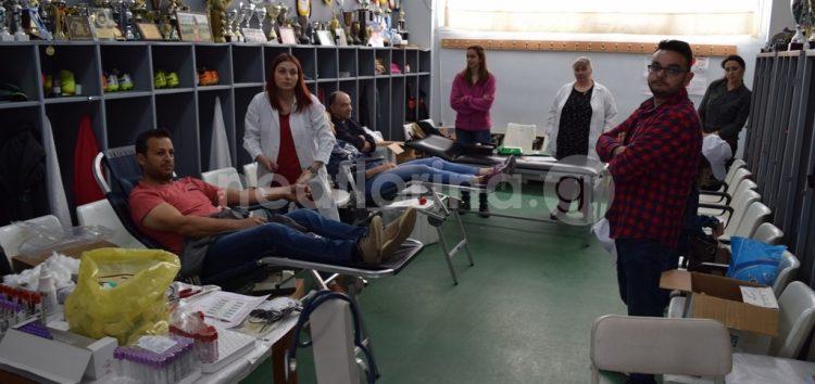 Η πρώτη εθελοντική αιμοδοσία από τον Π.Α.Σ. Φλώρινα (video, pics)