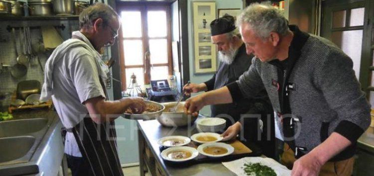 Αγιορείτικη μαγειρική στο Νυμφαίο (video, pics)