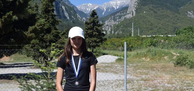 Διάκριση και μετάλλιο για την Ελευθερία Κουτσοτόλη στο 3ο Ε3 πρωτάθλημα τένις του Λιτοχώρου