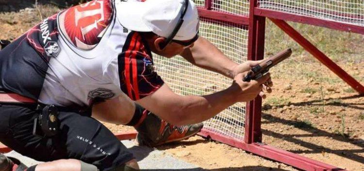 Ο Ηλίας Μούλελης στον διεθνή αγώνα πρακτικής σκοποβολής Asklipios Cup