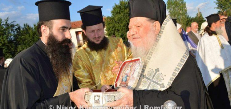 Υποδοχή λειψάνου του Αγίου Νικολάου στην Άνω Καλλινίκη