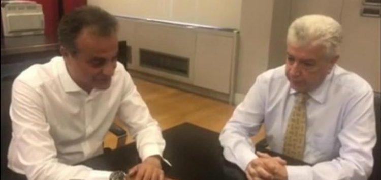 Εποικοδομητική συνάντηση Θ. Καρυπίδη με Μ. Παναγιωτάκη (video)