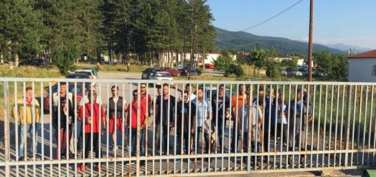 Κινητοποίηση και επίσκεψη των συμβασιούχων στο δήμο Φλώρινας