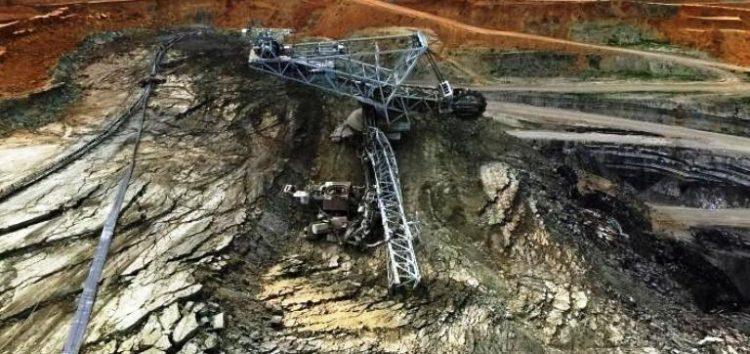 Άρθρο του Ριζοσπάστη για την μεγάλη κατολίσθηση που σημειώθηκε στο ορυχείο Αμυνταίου