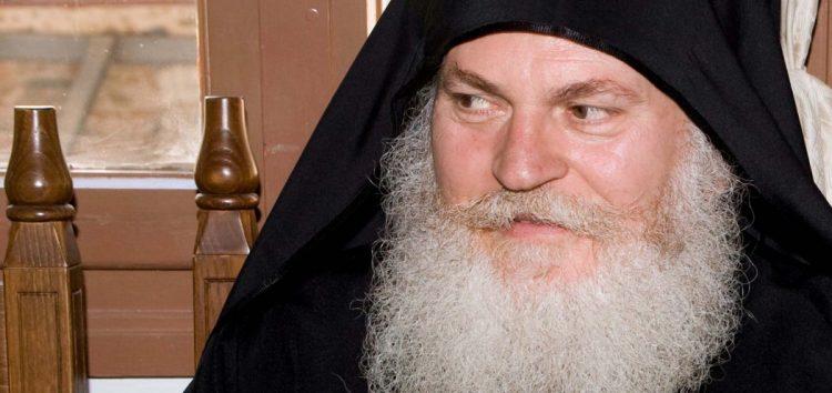 Ο ηγούμενος της Μονής Βατοπαιδίου γέροντας Εφραίμ στη Φλώρινα