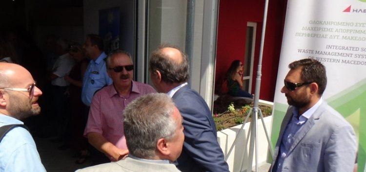 Ο δήμαρχος Φλώρινας στα εγκαίνια της Μονάδας Επεξεργασίας Απορριμμάτων (video, pics)