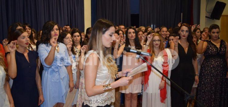 Ορκωμοσία αποφοίτων του τμήματος Δημοτικής Εκπαίδευσης Φλώρινας (video, pics)
