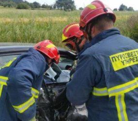 Παροχή βοηθείας από την Πυροσβεστική σε τροχαίο, στην Ε.Ο. Φλώρινας – Έδεσσας, στο ύψος του Αντιγόνου