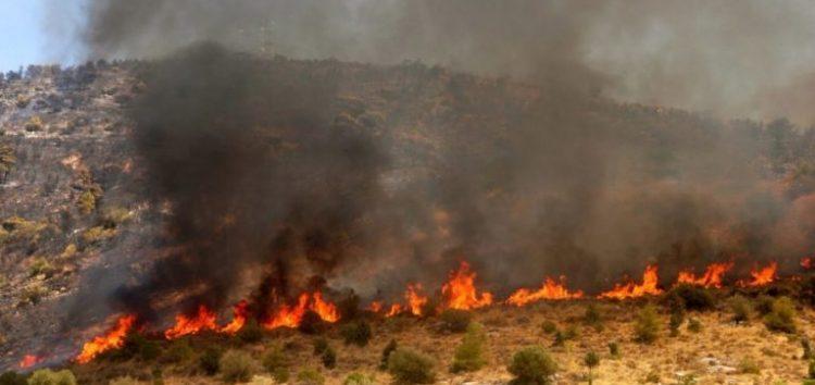 Πυρκαγιά στις Πρέσπες, στα σύνορα με την Αλβανία
