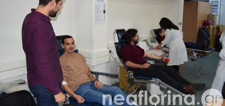 Εθελοντική αιμοδοσία των πανεπιστημιακών τμημάτων της Φλώρινας (video, pics)