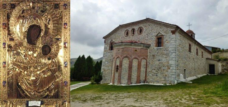 Υποδοχή αντιγράφου της ιεράς εικόνας της Παναγίας Πορταϊτίσσης στην Κέλλη