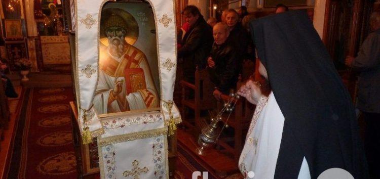 Πανηγυρίζει ο Ιερός Ναός Αγίου Σπυρίδωνα Αχλάδας (pics)
