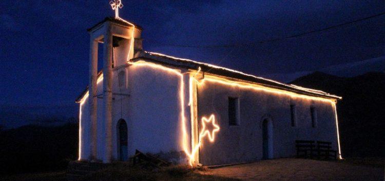 Φωταγωγήθηκε το εκκλησάκι του Αϊ Γιάννη στην Πρέσπα (pics)