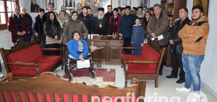 Το Εκκλησιαστικό Γυμνάσιο – Λύκειο επισκέφτηκε τον Μητροπολίτη Φλωρίνης κ. Θεόκλητο (video, pics)