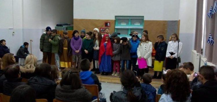 Η σχολική γιορτή των Χριστουγέννων του δημοτικού σχολείου Μελίτης (video, pics)