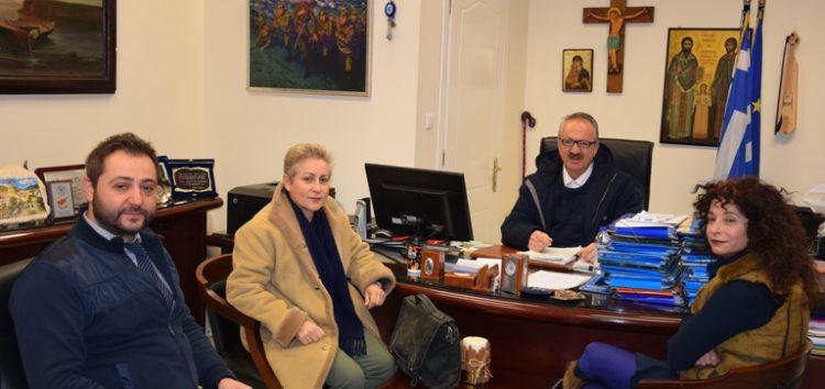 Συνάντηση του δημάρχου Φλώρινας με την πρόεδρο του τμήματος Νηπιαγωγών