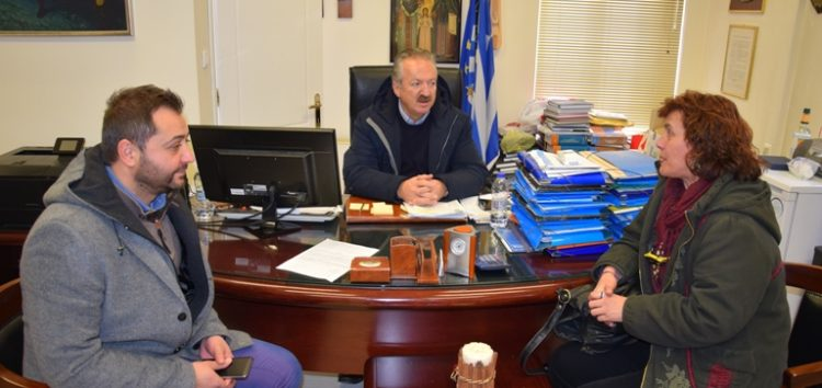 Συνάντηση του δημάρχου Φλώρινας με την πρόεδρο της Ένωσης Φιλολόγων