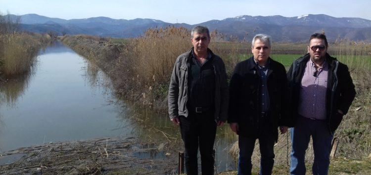 Πρόβλημα στις καλλιέργειες από την αύξηση της στάθμης στο αποστραγγιστικό κανάλι της Χειμαδίτιδας (video, pics)