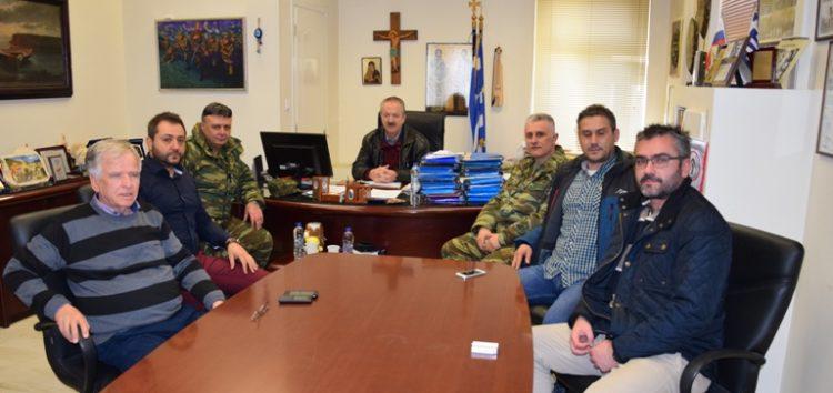 Συνάντηση του δημάρχου Φλώρινας με τον νέο διοικητή του 1ου Συντάγματος Πεζικού