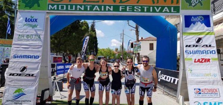Στο βάθρο οι αθλήτριες του ΑΟΦ Βούλα Λαδοπούλου και Νεφέλη Τίτα στο Sfendami Running Trail στα 21km