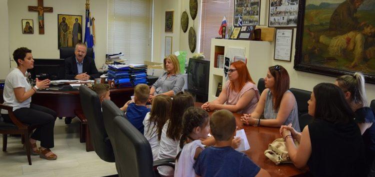 Συνάντηση του δημάρχου Φλώρινας με μαθητές του νηπιαγωγείου Σιταριάς (pics)